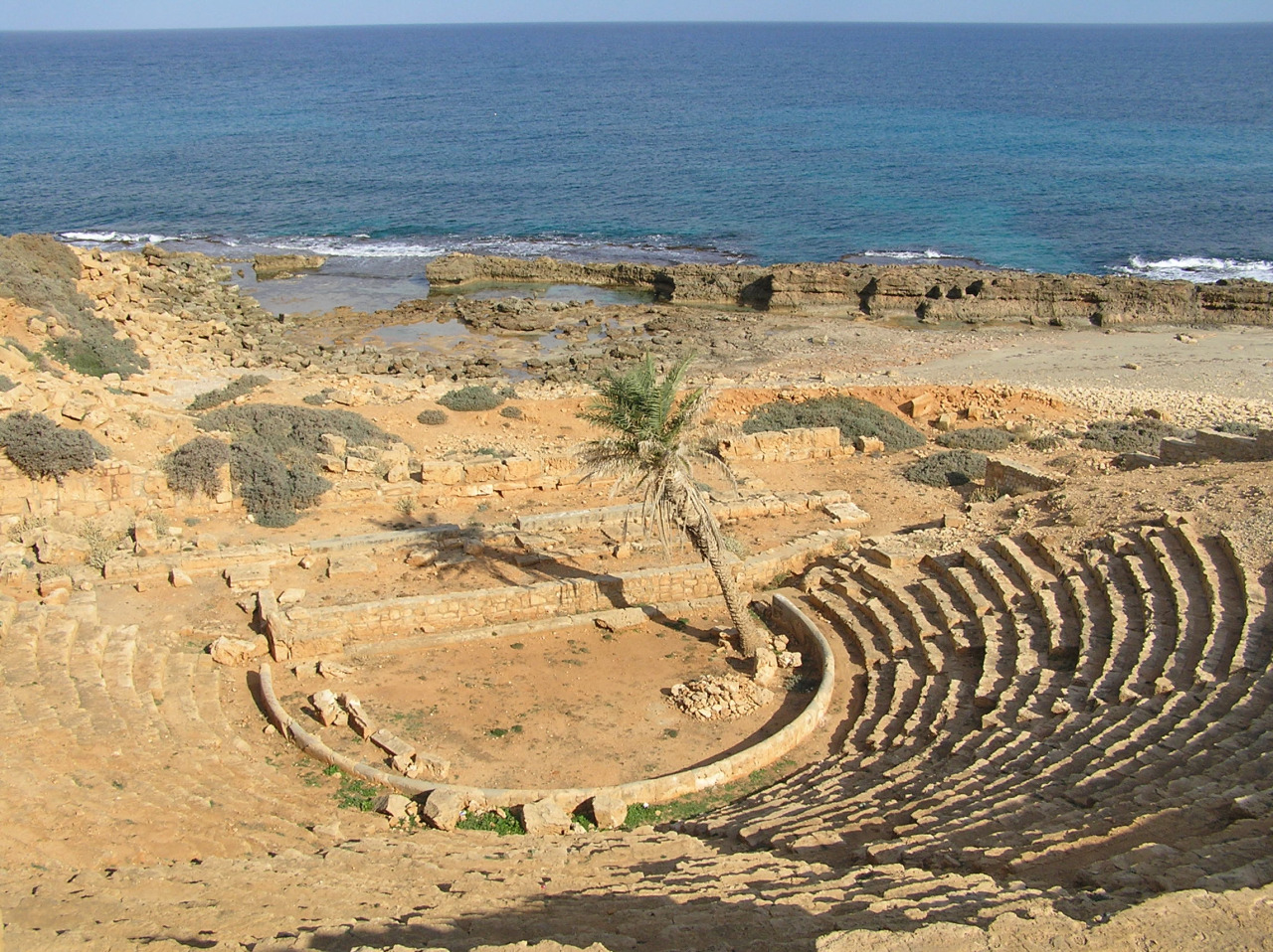 The Theater and Sunken Ruins at Apollonia in Cyrenaica (Libya)