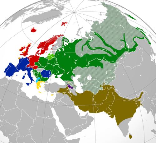 Indo-European Language Family Sprawl