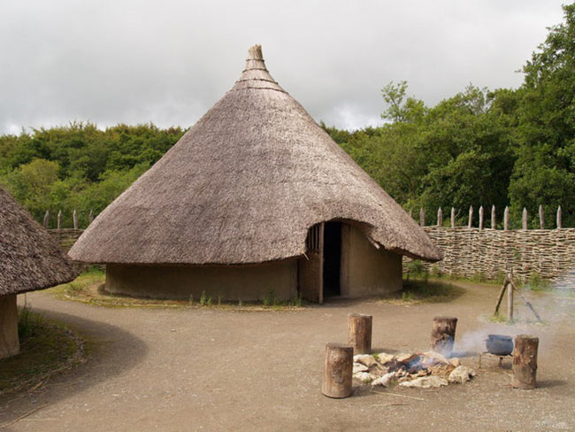 Iron Age Dwelling A reconstruction of an Iron-age dwelling. Photo by: Geography.co.uk