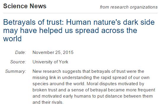 ScienceNews Betrayal
