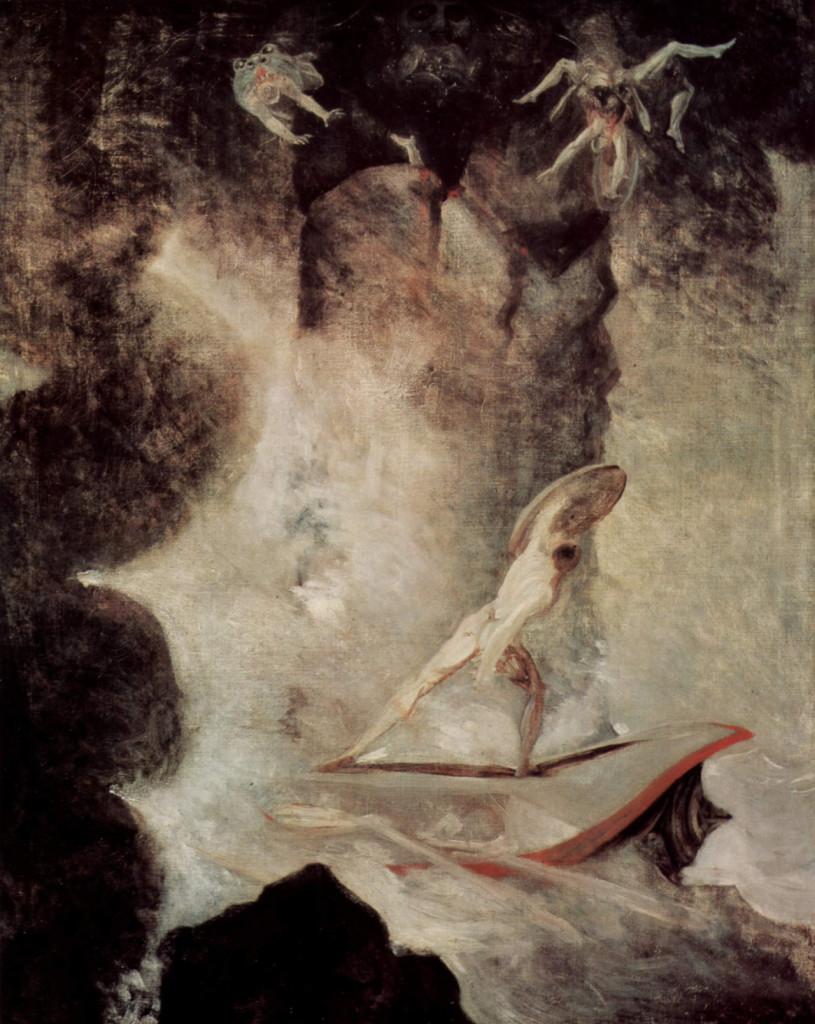 Odysseus Scylla - Odisseu lluitant contra Escil·la i Caribdis, de Heinrich Füssli (1794-1796)