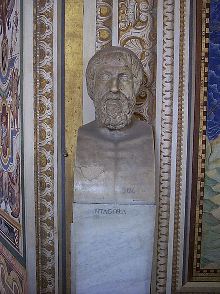 Bust of Pythagoras at the Vatican Museum, in Rome